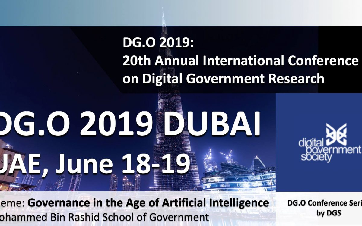 Research papers presentation, DG.O 2019 Dubai UAE, June 18-20